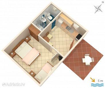 Apartman A-108-b - Apartmanok Uvala Lozna (Hvar) - 108