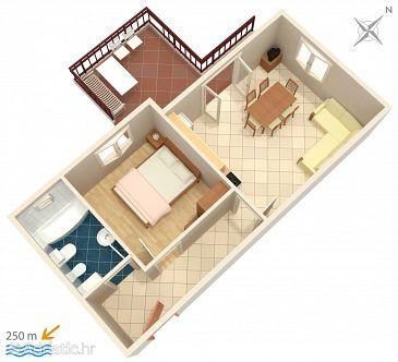 Apartman A-2794-a - Apartmanok Rastići (Čiovo) - 2794