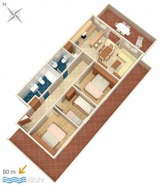 Apartament A-547-c - Apartamente și camere Zavalatica (Korčula) - 547