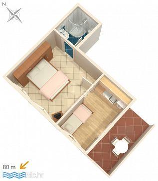 Garsonieră AS-547-b - Apartamente și camere Zavalatica (Korčula) - 547