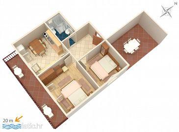 Apartment A-1001-c - Apartments Pisak (Omiš) - 1001