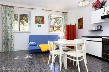 Korčula, Dining room u smještaju tipa studio-apartment, dopusteni kucni ljubimci.