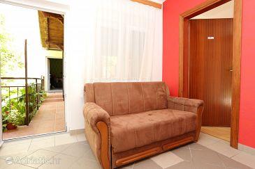 Trpanj, Dining room u smještaju tipa apartment, dostupna klima, dopusteni kucni ljubimci i WIFI.