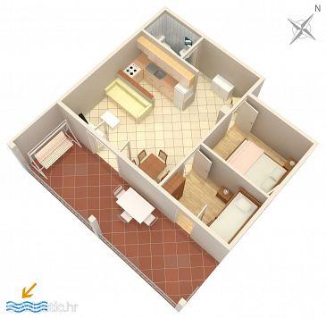 Apartment A-1008-a - Apartments Pisak (Omiš) - 1008