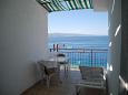 Stanići, Terrace u smještaju tipa apartment, s pogledom na more i WIFI.