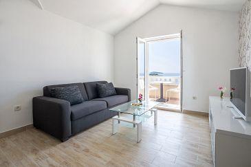 Rogoznica, Living room u smještaju tipa apartment, WIFI.