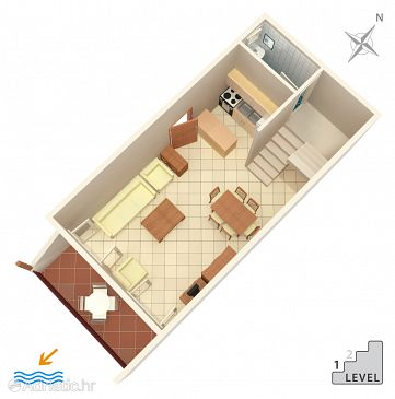 Apartment A-1042-a - Apartments Marušići (Omiš) - 1042