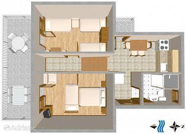 Apartment A-1044-b - Apartments Marušići (Omiš) - 1044