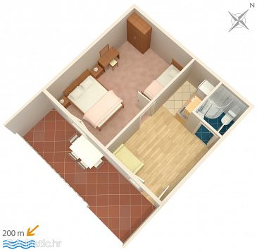 Apartment A-1059-a - Apartments Živogošće - Blato (Makarska) - 1059