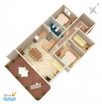 Apartment A-1068-a - Apartments Rastići (Čiovo) - 1068