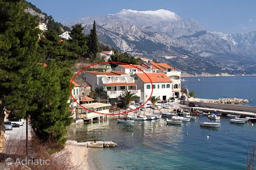 Property Pisak (Omiš) - Accommodation 1070 - Apartments near sea with pebble beach.