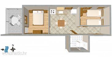 Apartment A-1079-b - Apartments Okrug Gornji (Čiovo) - 1079
