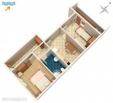 Arbanija, Plan u smještaju tipa apartment, WIFI.