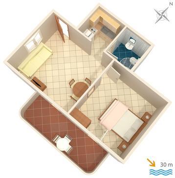 Apartament A-1098-b - Apartamenty Slatine (Čiovo) - 1098