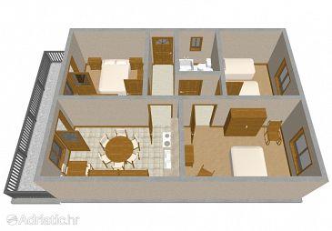 Kanica, Plan u smještaju tipa apartment, WIFI.