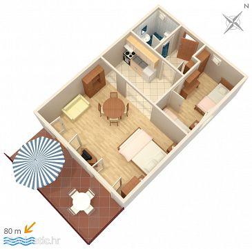 Apartment A-1108-e - Apartments Mavarštica (Čiovo) - 1108