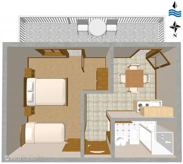Apartment A-1109-c - Apartments Mavarštica (Čiovo) - 1109