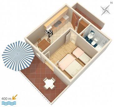 Apartament A-111-b - Apartamenty Sveta Nedilja (Hvar) - 111