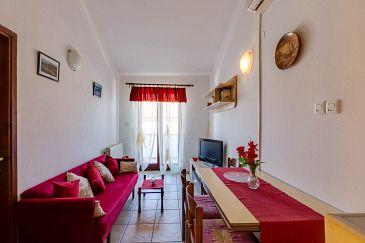 Mali Lošinj, Living room u smještaju tipa apartment, dostupna klima i WIFI.