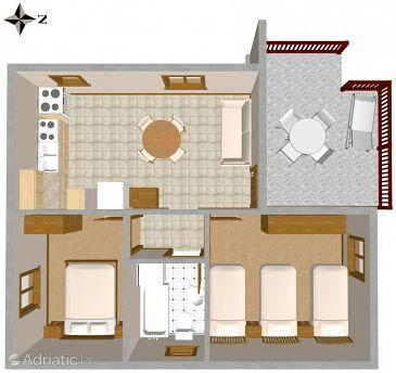 Okrug Gornji, Plan u smještaju tipa apartment.