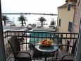 Makarska, Balcony u smještaju tipa studio-apartment, s pogledom na more.
