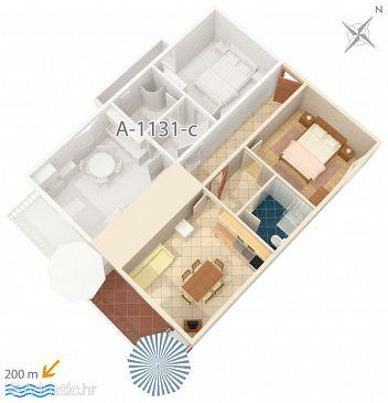 Apartment A-1131-b - Apartments Marušići (Omiš) - 1131