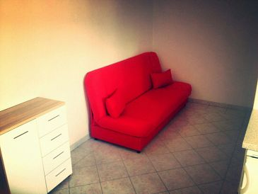 Novi Vinodolski, Dining room u smještaju tipa apartment, dopusteni kucni ljubimci i WIFI.
