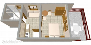 Studio flat AS-1149-a - Apartments Komiža (Vis) - 1149