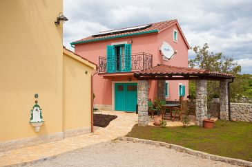 Property Kornić (Krk) - Accommodation 11504 - Vacation Rentals with pebble beach.