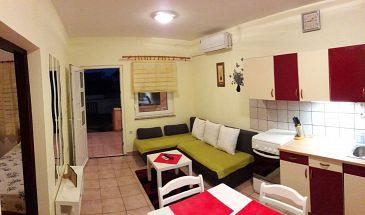 Povljana, Living room u smještaju tipa apartment, dostupna klima i WIFI.