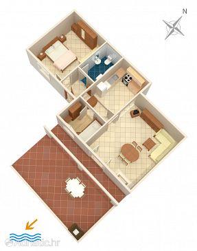 Apartment A-1153-a - Apartments Rukavac (Vis) - 1153