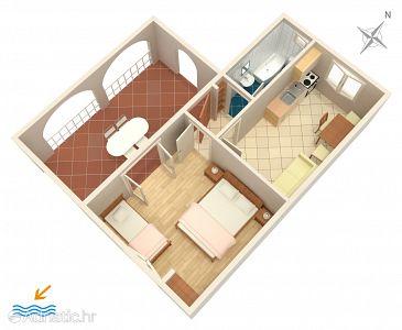 Apartment A-1153-e - Apartments Rukavac (Vis) - 1153