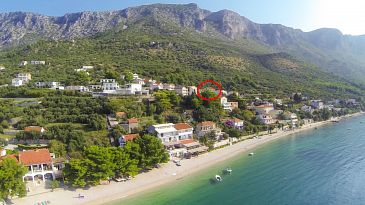 Property Podaca (Makarska) - Accommodation 11570 - Rooms with pebble beach.