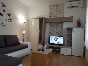 Fažana, Living room u smještaju tipa apartment, dostupna klima, dopusteni kucni ljubimci i WIFI.
