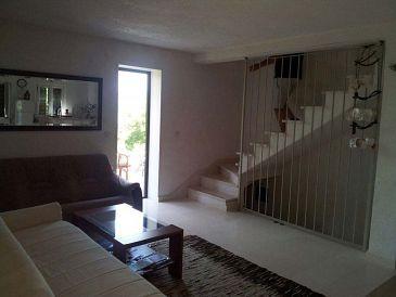 Splitska, Living room u smještaju tipa apartment, dopusteni kucni ljubimci i WIFI.