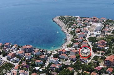 Property Sevid (Trogir) - Accommodation 11828 - Apartments near sea with pebble beach.