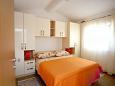 Zečevo Rtić, Bedroom u smještaju tipa apartment, WIFI.