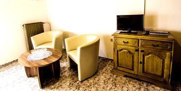 Zambratija, Obývací pokoj u smještaju tipa apartment, WIFI.