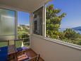 Rabac, Balkon u smještaju tipa apartment, s pogledom na more i WIFI.