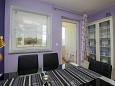 Rabac, Jídelna u smještaju tipa apartment, dostupna klima i WIFI.