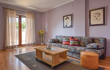 Pula, Obývací pokoj u smještaju tipa apartment, dopusteni kucni ljubimci i WIFI.