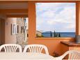 Kali, Terrace u smještaju tipa apartment, s pogledom na more i WIFI.