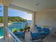 Gršćica, Terrace u smještaju tipa apartment, s pogledom na more, dopusteni kucni ljubimci i WIFI.