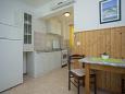 Gršćica, Dining room u smještaju tipa studio-apartment, dostupna klima i WIFI.