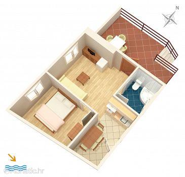 Apartment A-156-a - Apartments Lumbarda (Korčula) - 156