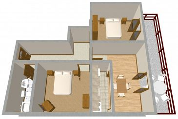 Apartament A-175-c - Apartamenty Prižba (Korčula) - 175