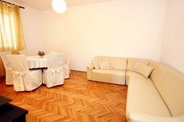 Korčula, Living room u smještaju tipa apartment, dopusteni kucni ljubimci i WIFI.