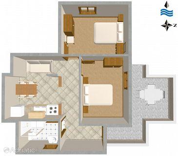 Zavalatica, Plan u smještaju tipa apartment, WIFI.