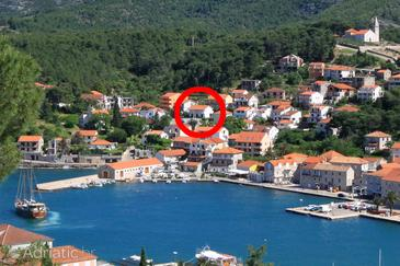 Property Jelsa (Hvar) - Accommodation 196 - Apartments near sea with pebble beach.