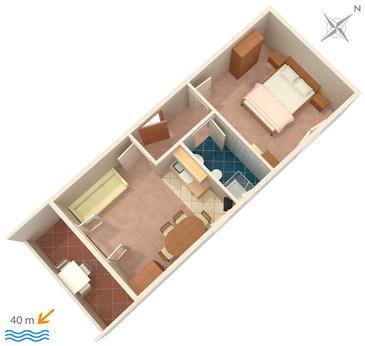Apartment A-2008-b - Apartments and Rooms Banjol (Rab) - 2008